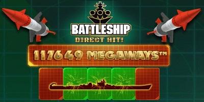 Battleship Direct Hit Megaways slot logo