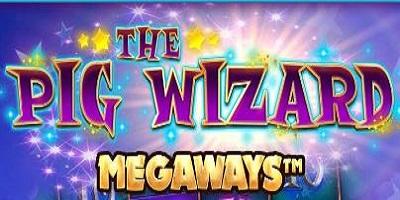 The Pig Wizard Megaways slot logo
